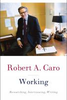 WORKING by Robert Caro
