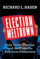ELECTION MELTDOWN by Richard Hasen